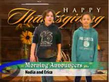 Morning Announcements for Wednesday, October 5, 2016
