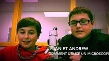 Ryan and Andrew explain how to use a microscope.